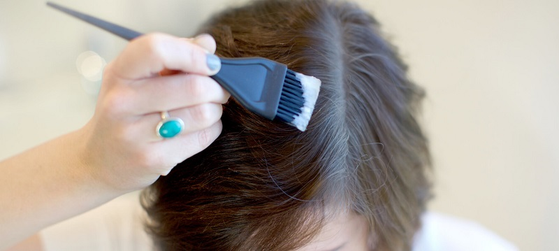 Effective process to dye the hair root
