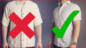The correct way to wear a shirt.