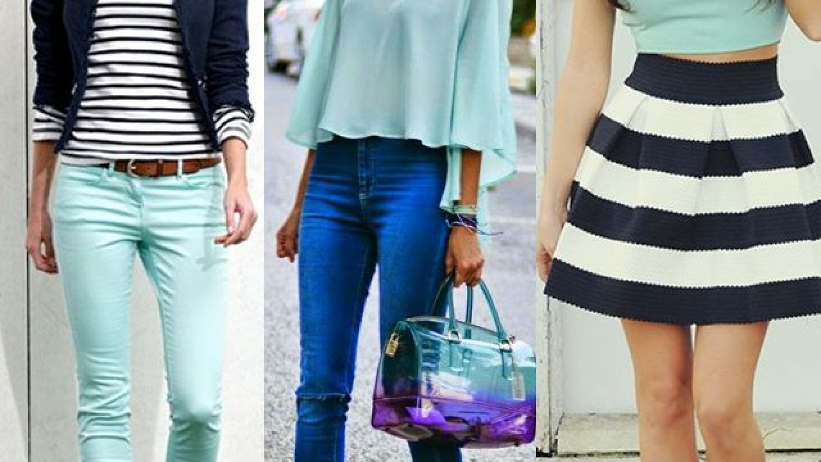 What colour goes best with mint green