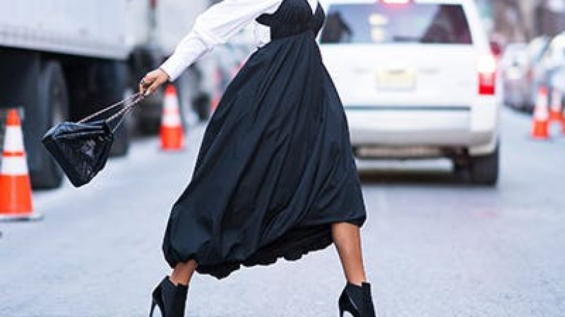 How to wear ankle boots with dresses?